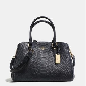Coach Outlet Mini Empire Carryall In Stamped Snake